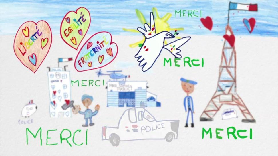 Après les attentats, la police a reçu de nombreux dessins haineux de la part d'enfants. Refusons cette violence !