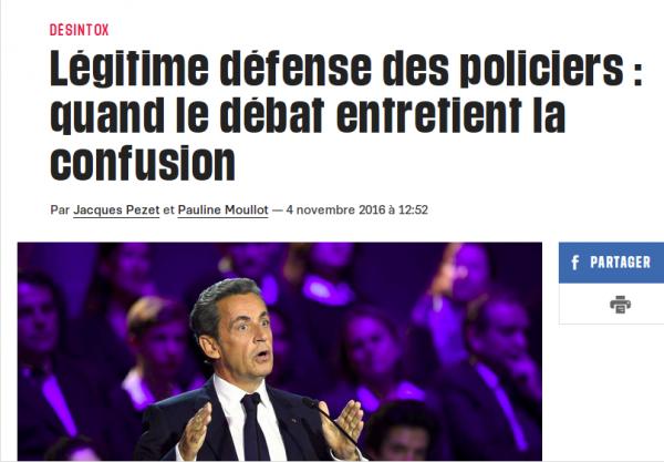 Lors du 2ème débat de la primaire de droite, Nicolas Sarkozy a réussi le tour de force de proposer la légitime défense actuelle avec son exemple !